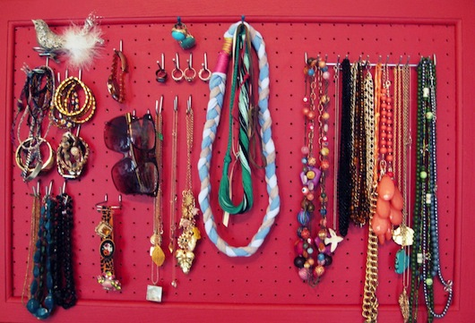 Pegboard Necklace Organizer