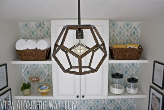 View Along the Way | DIY Dodecahedron Pendant Light