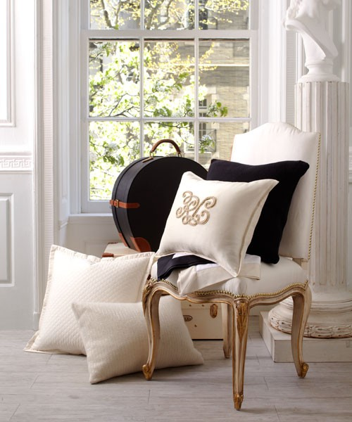 House Beautiful Gold Accent Chair