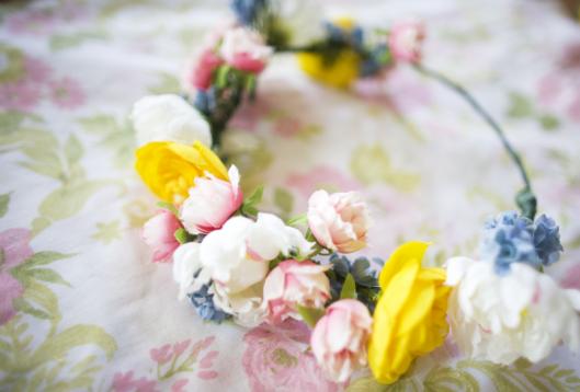 Bleu Bird Vintage   DIY Flower Crown