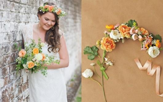 Bryan Gardner and Corbin Gurkin for Martha Stewart   DIY Wedding Flower Crown