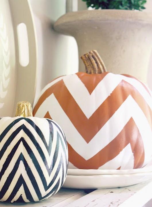 DIY Pumpkins - Chevron Pumpkins