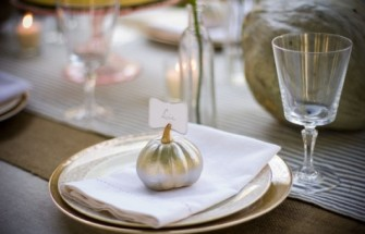Fall Table Settings - Pumpkin Place Card