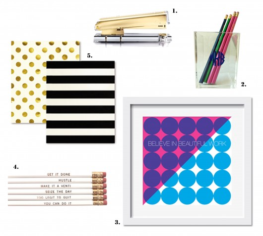 Happy Office - Collage office supplies
