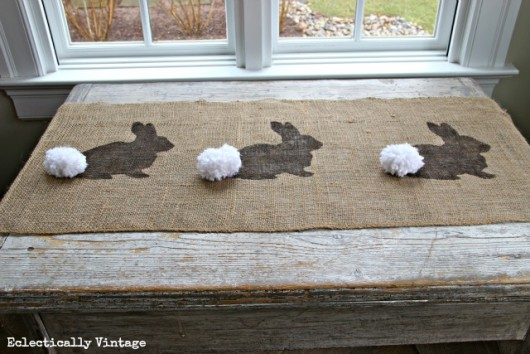 Eclectically Vintage - Bunny Table Runner