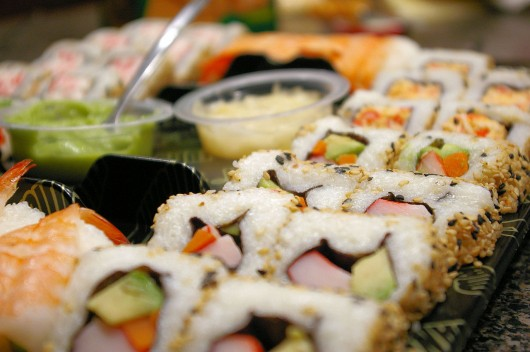 Sushi Rolls in Little Tokyo
