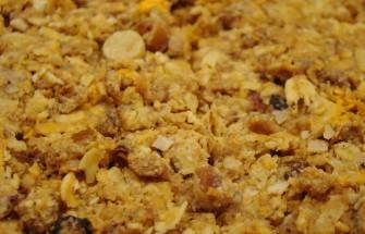 granola bar close up