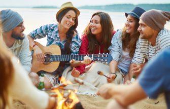 friends campfire