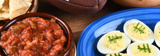 Healthy snacks for football party