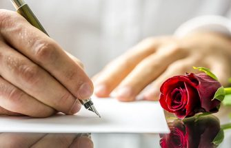 Writing a romantic letter